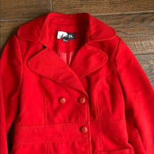 Rue 21 thick red coat